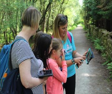 Tapping and Swiping - The Past at the Bennachie Centre