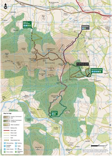 Bennachie Map Download