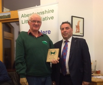 Harry Leil Receives a Green Butterfly Award